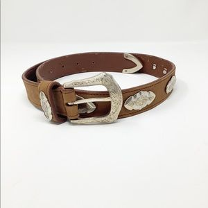 NAVASOTA LEATHER BELT WITH EMBELLISHMENT